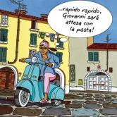 Roberta kurvt durch Lucca